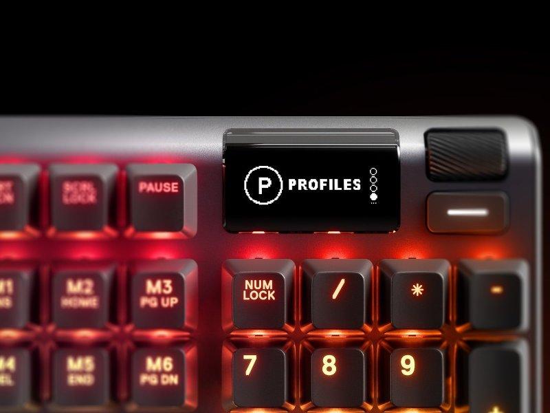 SteelSeries Apex 7 USB Angol Gaming Billentyűzet Red Switch (64635) Fekete