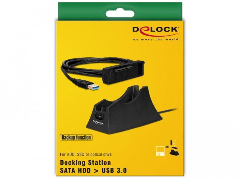 DELOCK Dokkoló állomás SATA HDD-hez (61858) fekete