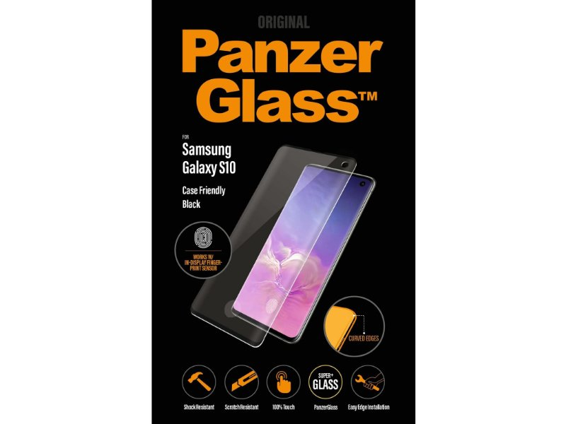 PanzerGlass Samsung Galaxy S10 tokbarát üvegfólia (5711724071850) fekete