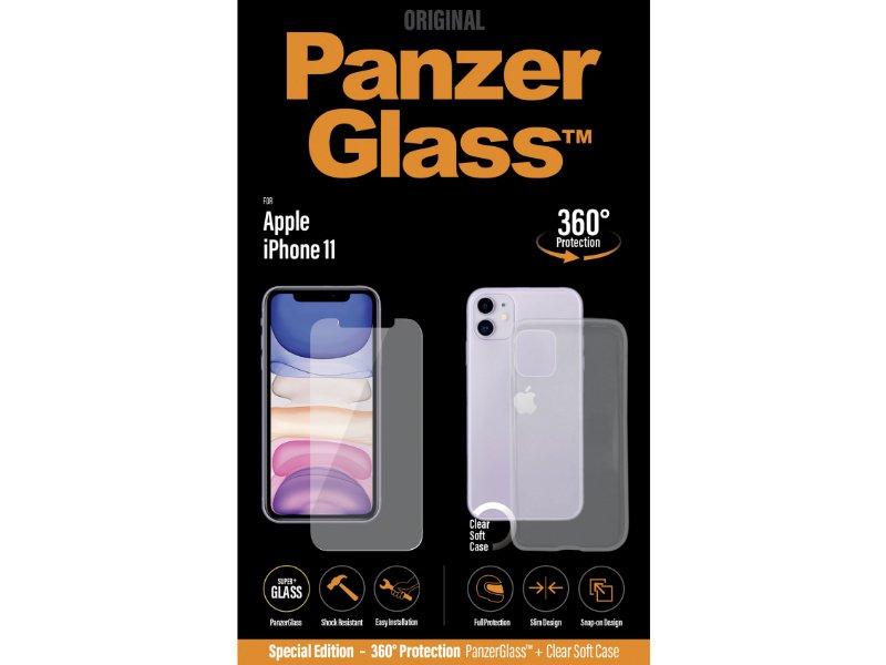 PanzerGlass Apple iPhone 11 üvegfólia és szilikon tok (5711724226625) átlátszó