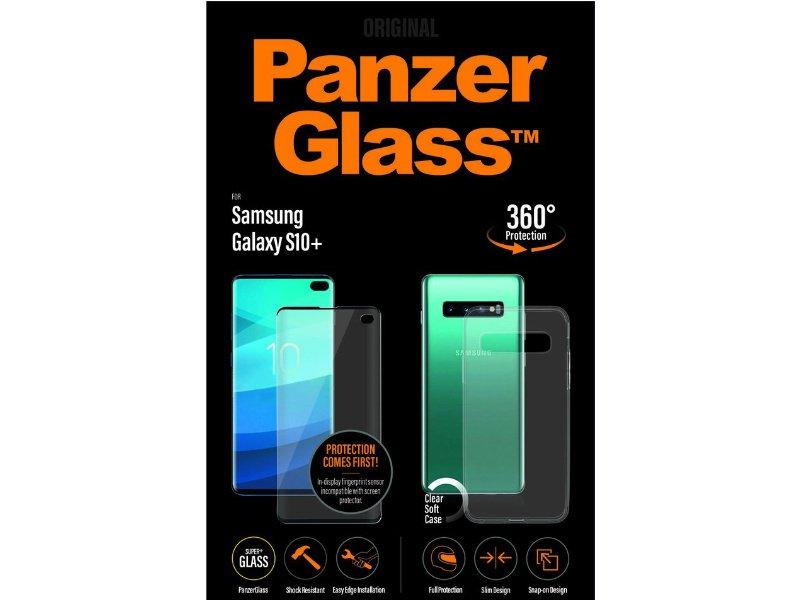 PanzerGlass Samsung Galaxy S10+ üvegfólia és szilikon tok (5711724271762) Átlátszó