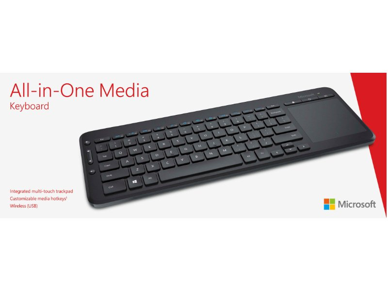 Microsoft All-in-one Media Wireless Billentyűzet (N9Z-00021)