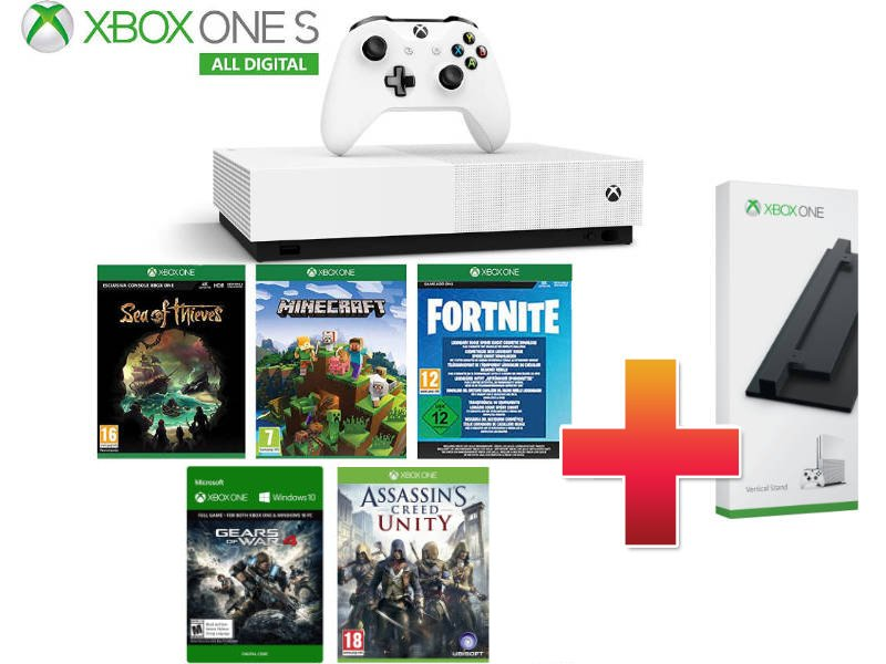 Xbox One S 1TB All-Digital Csomag (5 játékkal)