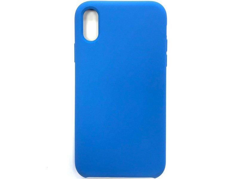 Premium szilikon tok iPhone XS Kék