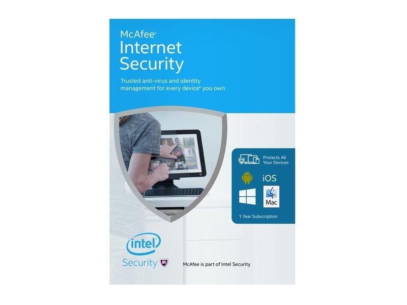 McAfee Internet Security vírusvédelmi OEM szoftver (1 év)