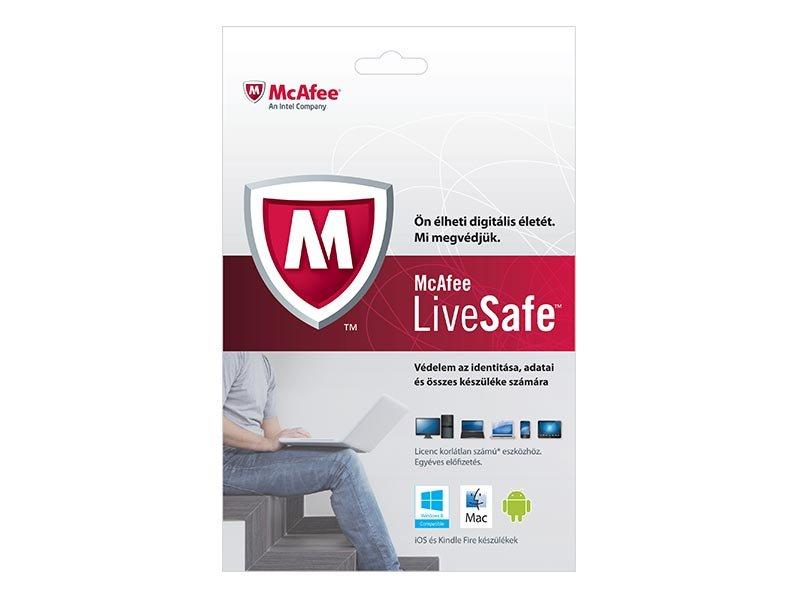 McAfee LiveSafe vírusvédelmi OEM szoftver