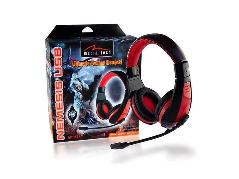 Media-Tech Nemesis Mikrofonos USB Fejhallgató (MT3574)