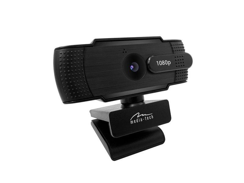 MEDIA-TECH LOOK V PRIVACY FullHD Webkamera (MT4107) Fekete