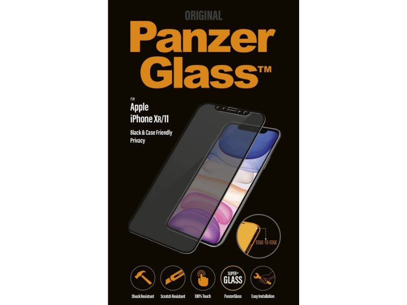 PanzerGlass Apple iPhone XR/11 Privacy tokbarát üvegfólia (5711724126659) fekete