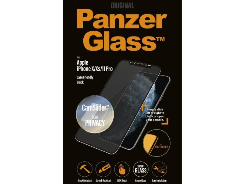 PanzerGlass Apple iPhone X/Xs/11 Pro CamSlider Privacy tokbarát üvegfólia (5711724126673) fekete