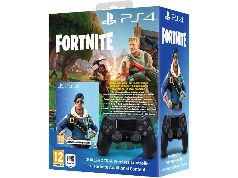 PlayStation 4 (PS4) DualShock 4 V2 Kontroller (Fekete) + Fortnite bónusz tartalom