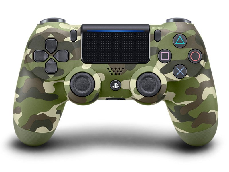 PlayStation 4 (PS4) DualShock 4 V2 Kontroller (Zöld Terepmintás)