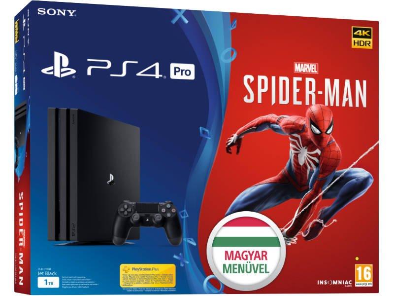 PS4 Pro 1TB Konzol + Spider-Man