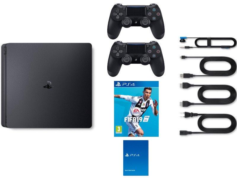 PS4 Slim 1TB Konzol + Fifa 19 + PS4 kontroller