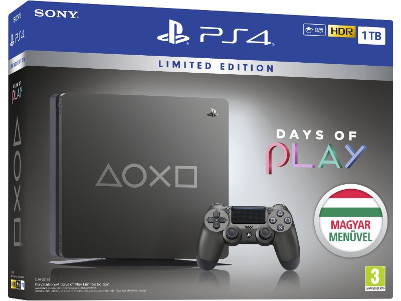 PS4 Slim 1TB Konzol Days of Play Special Edition