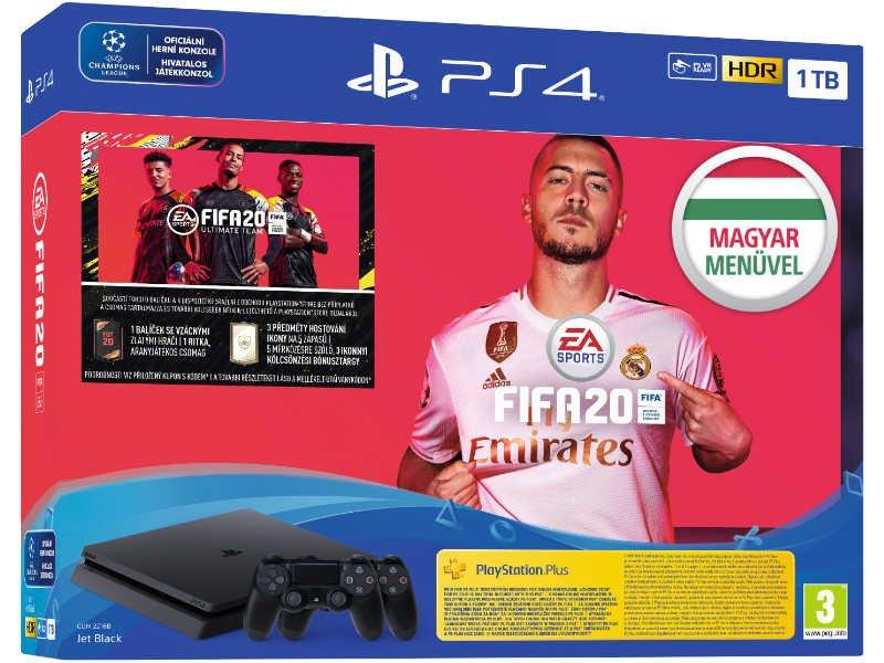 PS4 Slim 1 TB Konzol + Fifa 20 + Extra Dualshock 4