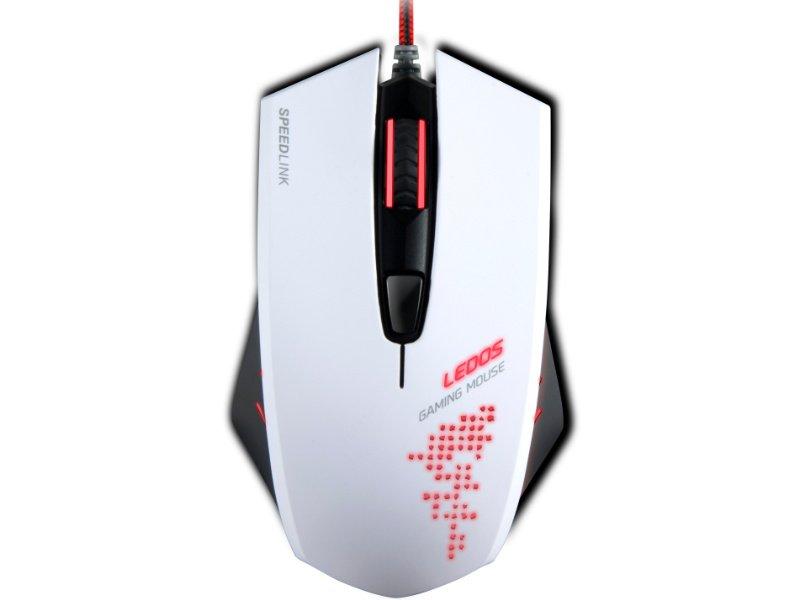 Speedlink (SL-6393-WE) LEDOS Gaming Vezetékes Egér Fehér