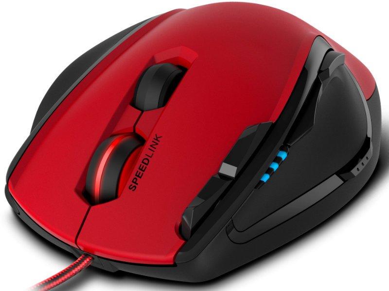 Speedlink (SL-680004-BKRD) SCELUS Gaming Vezetékes Egér Fekete-piros