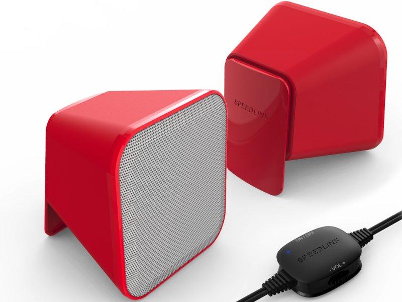 Speedlink (SL-810002-RDWE) SNAPPY Hangszóró Piros-fehér