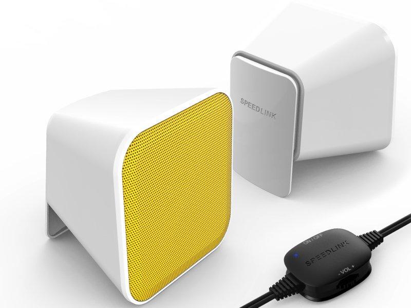 Speedlink (SL-810002-WEYW) SNAPPY Hangszóró Fehér-sárga