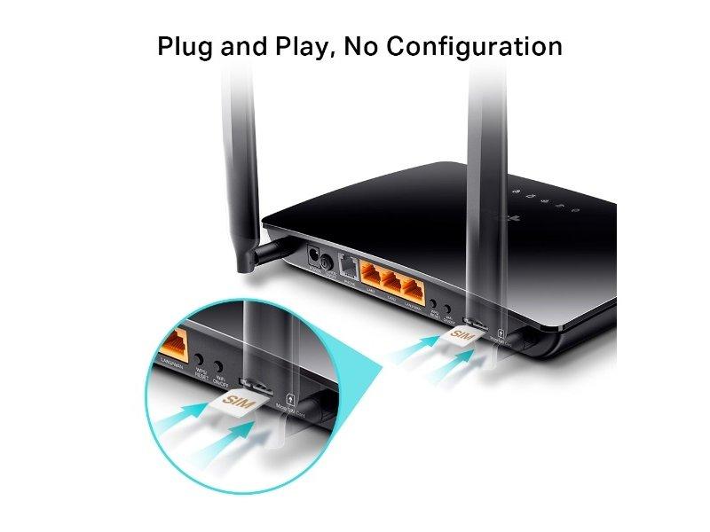 TP-Link TL-MR6500v N300 4G LTE Telefon Portos Wi-Fi Router