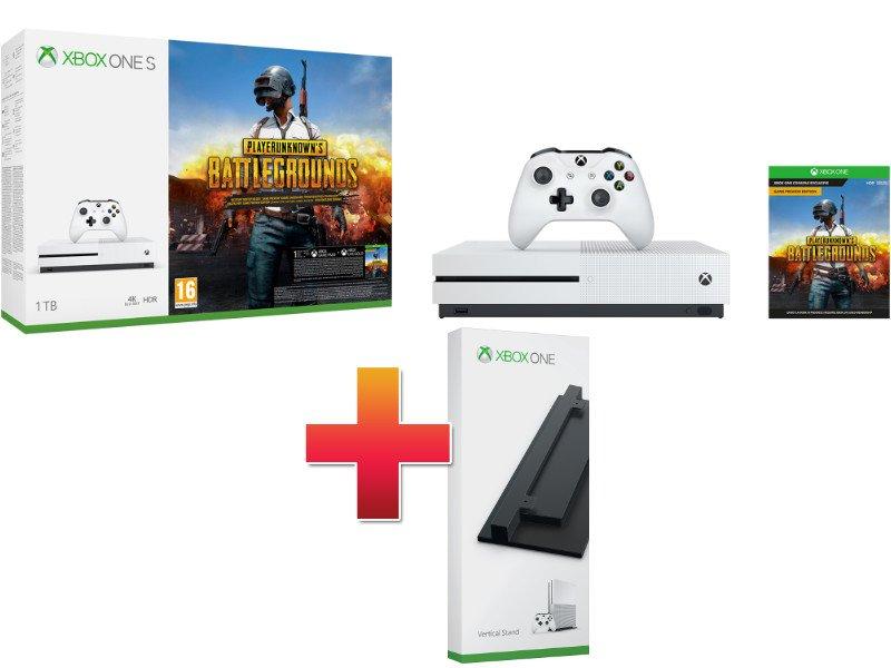 Xbox One S 1 TB Konzol PUBG csomag (PLAYERUNKNOWN'S BATTLEGROUNDS) + Függőleges állvány