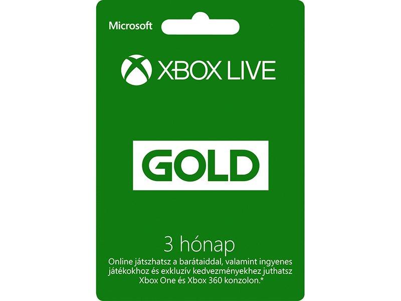 Xbox Live Gold 3 hónapos előfizetés (52K-00269)