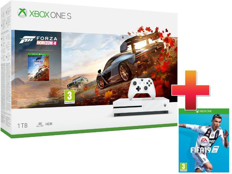 Xbox One S 1 TB Konzol Forza Horizon 4 csomag + Fifa 19