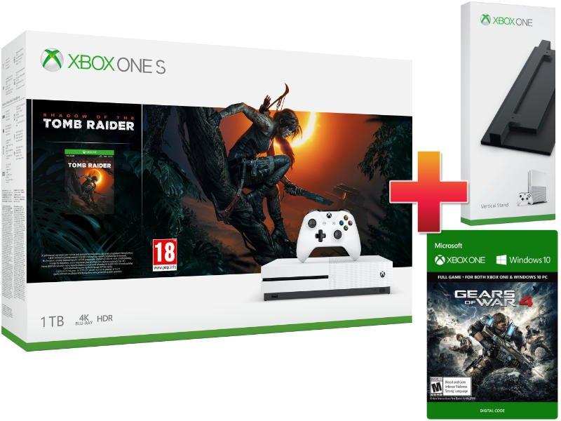 Xbox One S 1TB Konzol Shadow of The Tomb Raider csomag