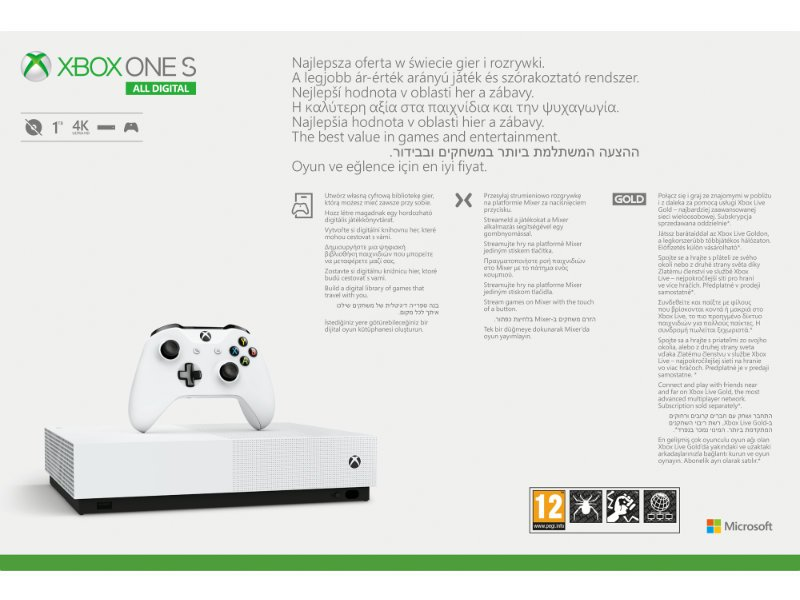 Xbox One S 1TB All-Digital Edition Konzol