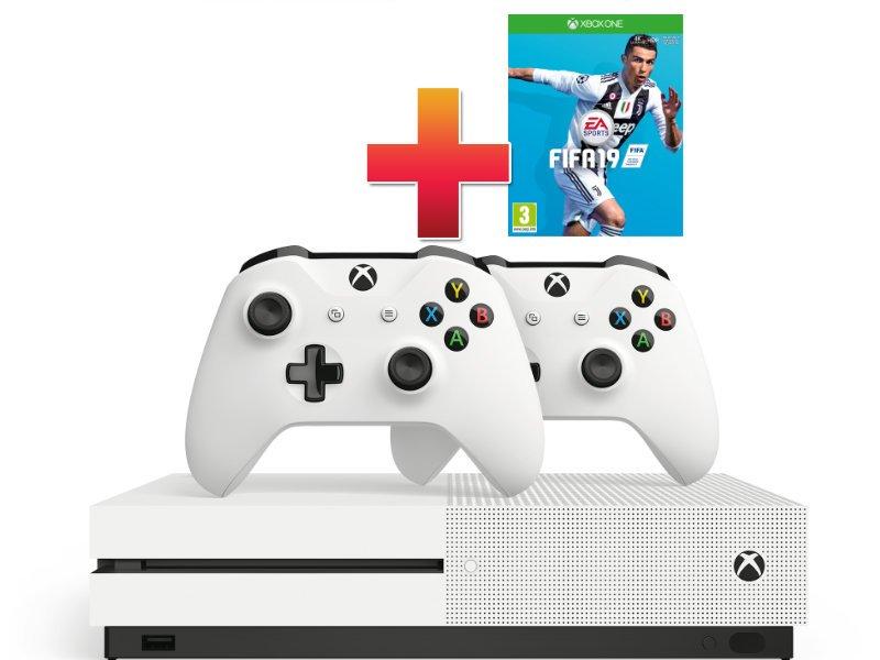 Xbox One S 1 TB Két Kontrolleres Konzol Csomag + Fifa 19