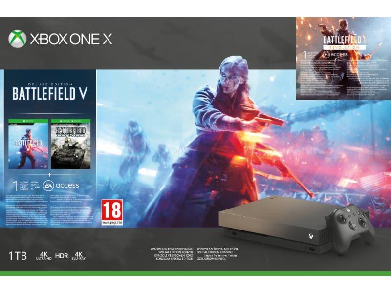 Xbox One X 1 TB Konzol Battlefield 5 (V) Gold Rush Special Edition csomag