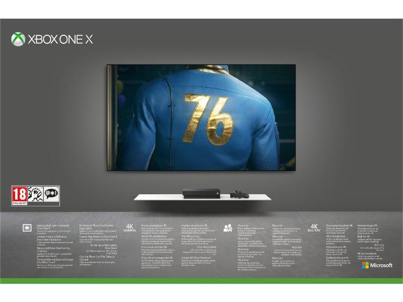 Xbox One X 1 TB Konzol Fallout 76 Robot White Special Edition csomag
