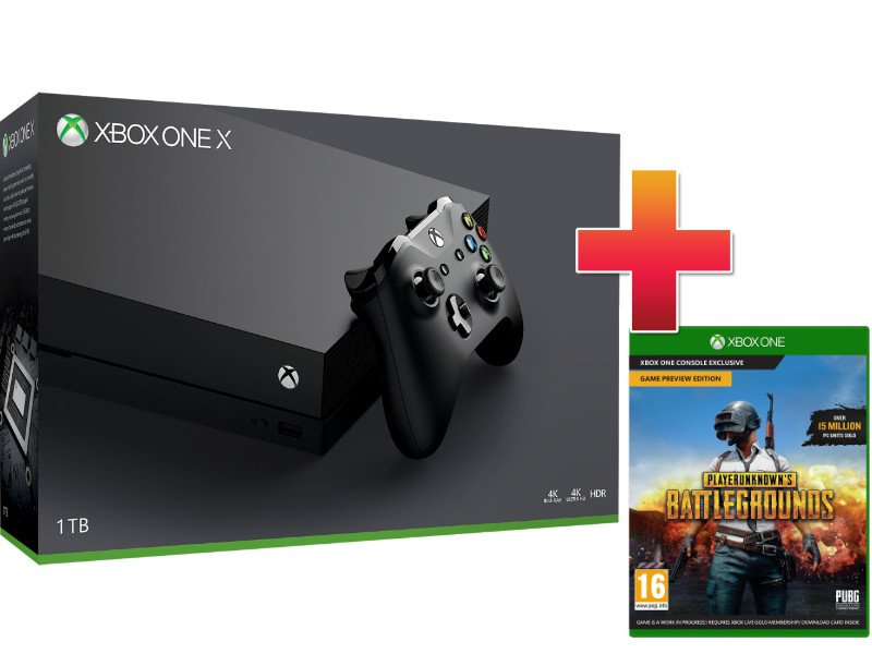 Xbox One X 1 TB Konzol PUBG csomag (PLAYERUNKNOWN'S BATTLEGROUNDS)