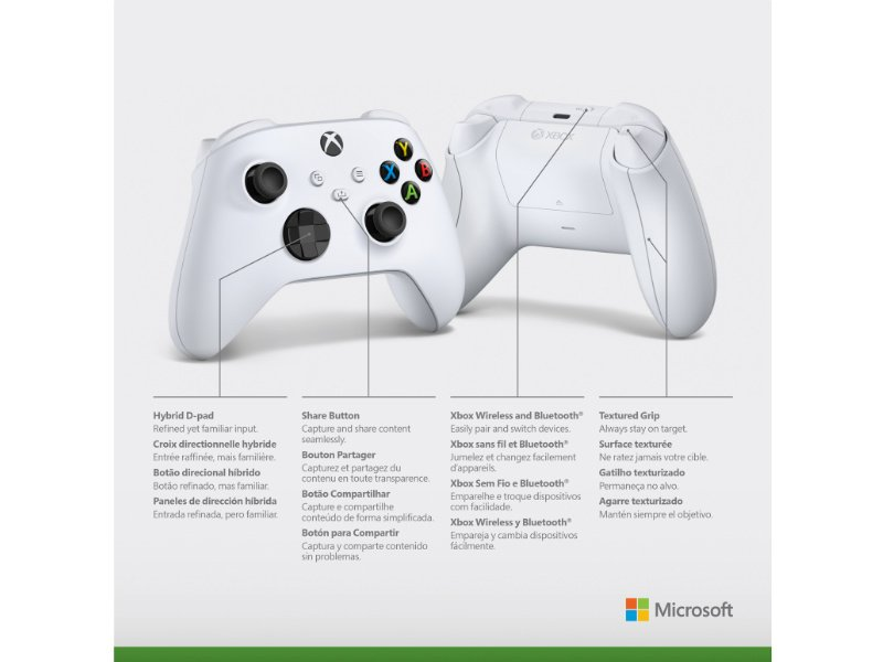 Microsoft Xbox Series Gamepad, kontroller Robot White